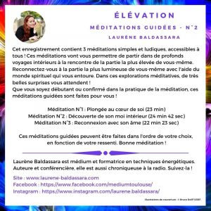 Méditations guidées – ELEVATION – Album N°2