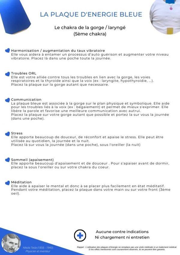 guide d'utilisation de la plaque bleue