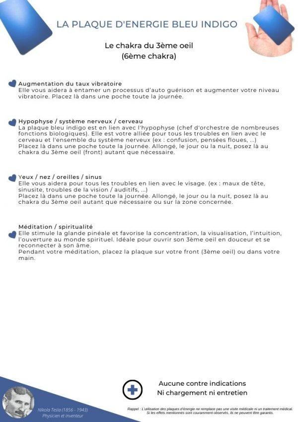 guide d'utilisation de la plaque bleu indigo