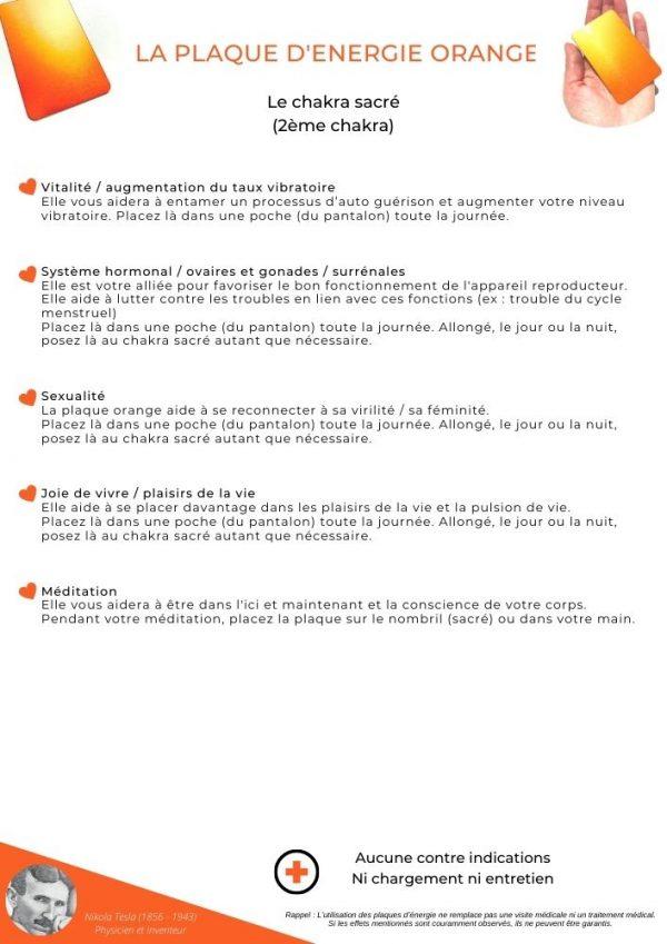 guide d'utilisation de la plaque orange