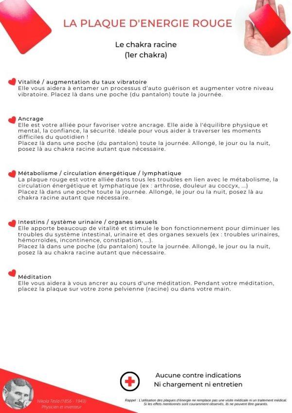 guide d'utilisation de la plaque rouge