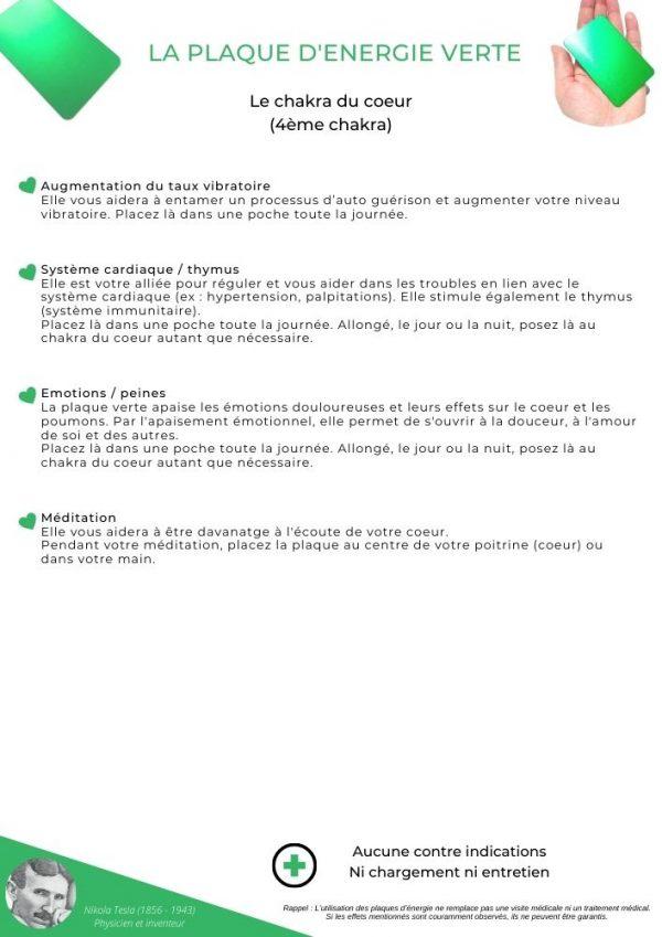 guide d'utilisation de la plaque verte