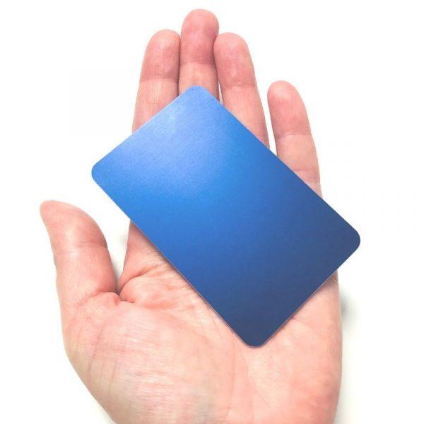 Plaque bleu indigo tesla