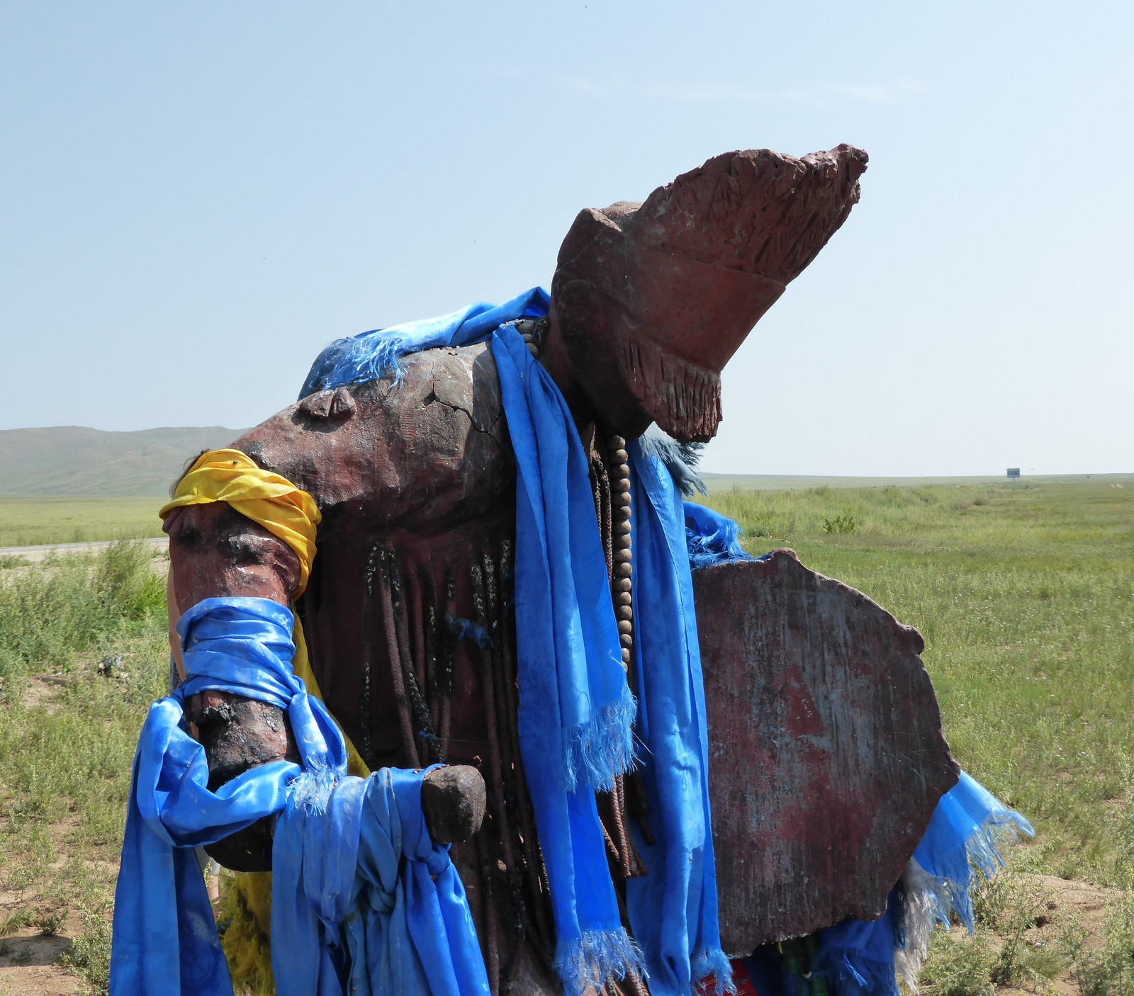 statue de chamane mongole
