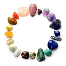 minéraux en cercle