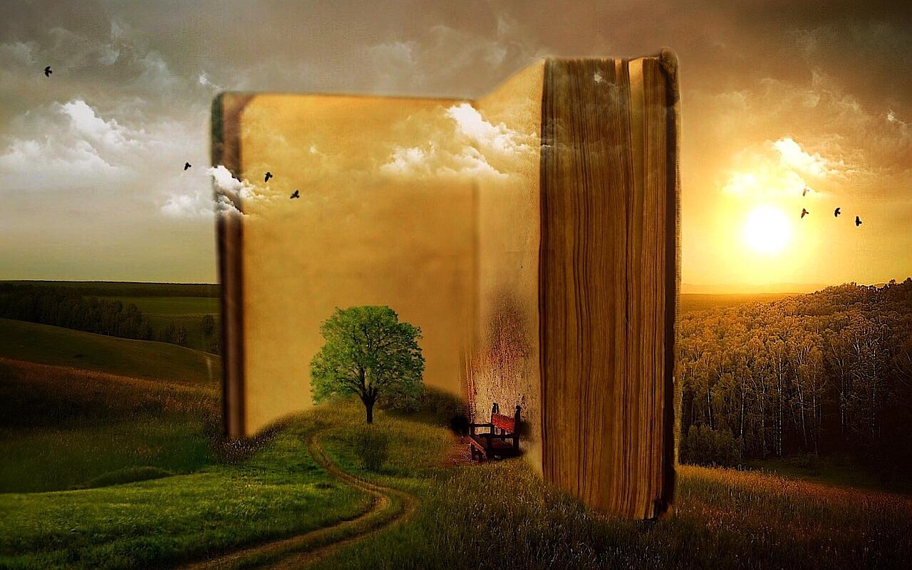 livre géant ouvert