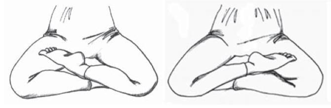 posture du demi-lotus